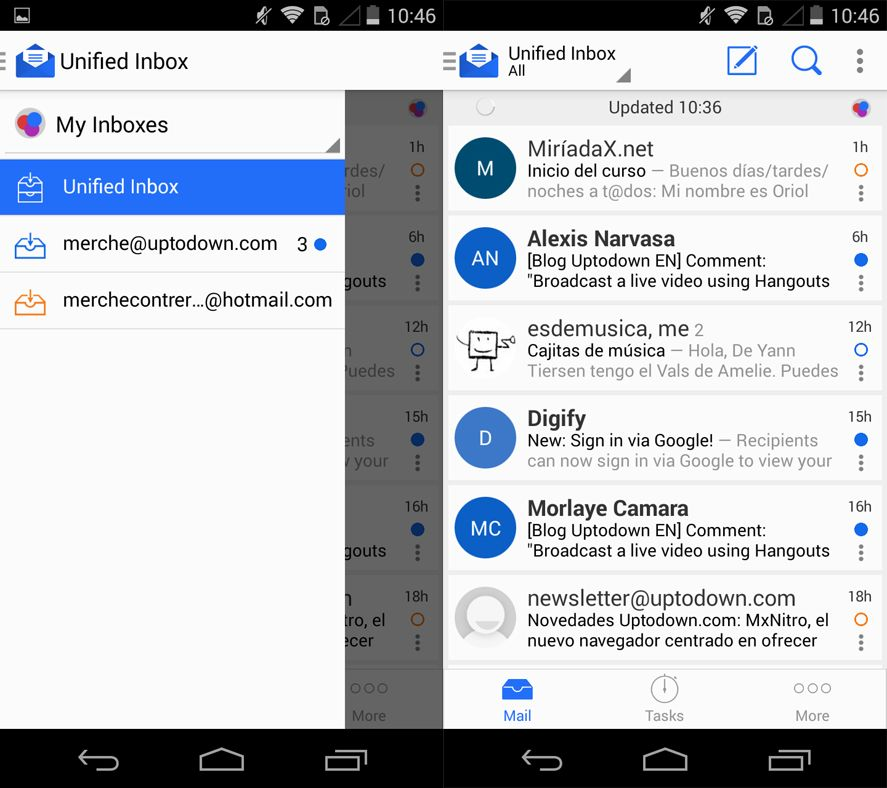 inboxes blue email