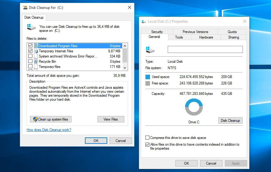 how to clear out space on windows 10