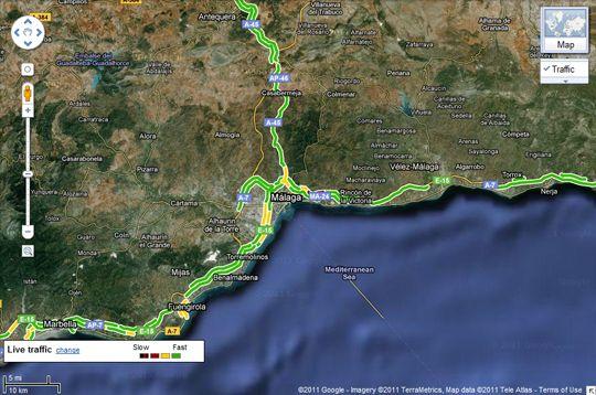 2011 07 14 09 11 291 Google Maps te avisa del estado del tráfico, ahora también en España