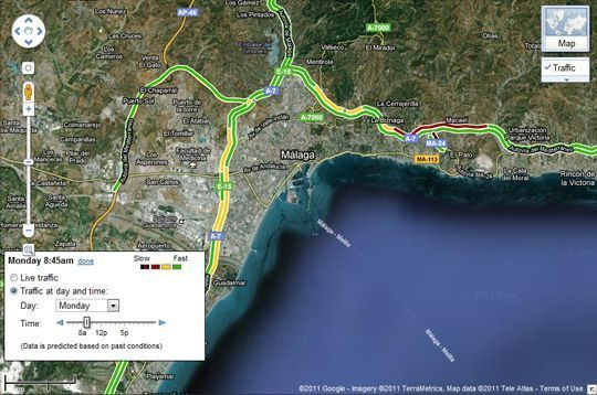 2011 07 14 09 11 541 Google Maps te avisa del estado del tráfico, ahora también en España