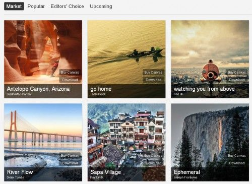 500px market Flickr y 500px estrenan nuevo look