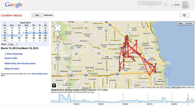 Just A Reminder Google Can Trace Your Location Through Your - Google map location history