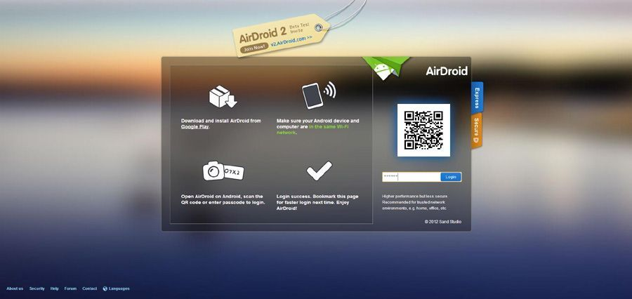 AirDroid captura
