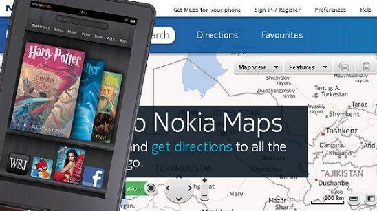 Amazon se alía con Nokia y el nuevo Kindle Fire dejará de lado los Google Maps