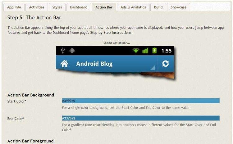 Andromo barra Crea tus propias aplicaciones para Android con Andromo