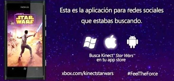 Aplicación de Kinect Star Wars para Android, iOS y Windows Phone