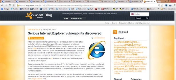 Avast recomienda no usar Internet Avast recomienda cambiarse a Google Chrome y no usar Internet Explorer