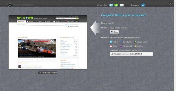 Awesome Screenshot captura Diferentes opciones para realizar capturas de pantalla