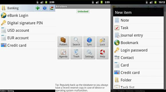 B Folders password Apps to get the most out of your Android from your PC