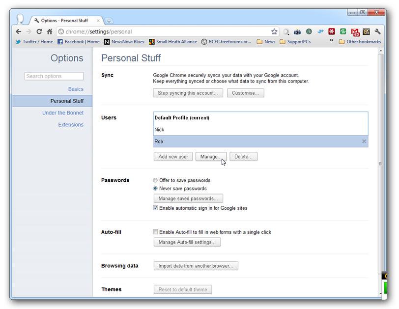 Chrome 16 Dev Browser Google Chrome 16 llega con el soporte multiusuario