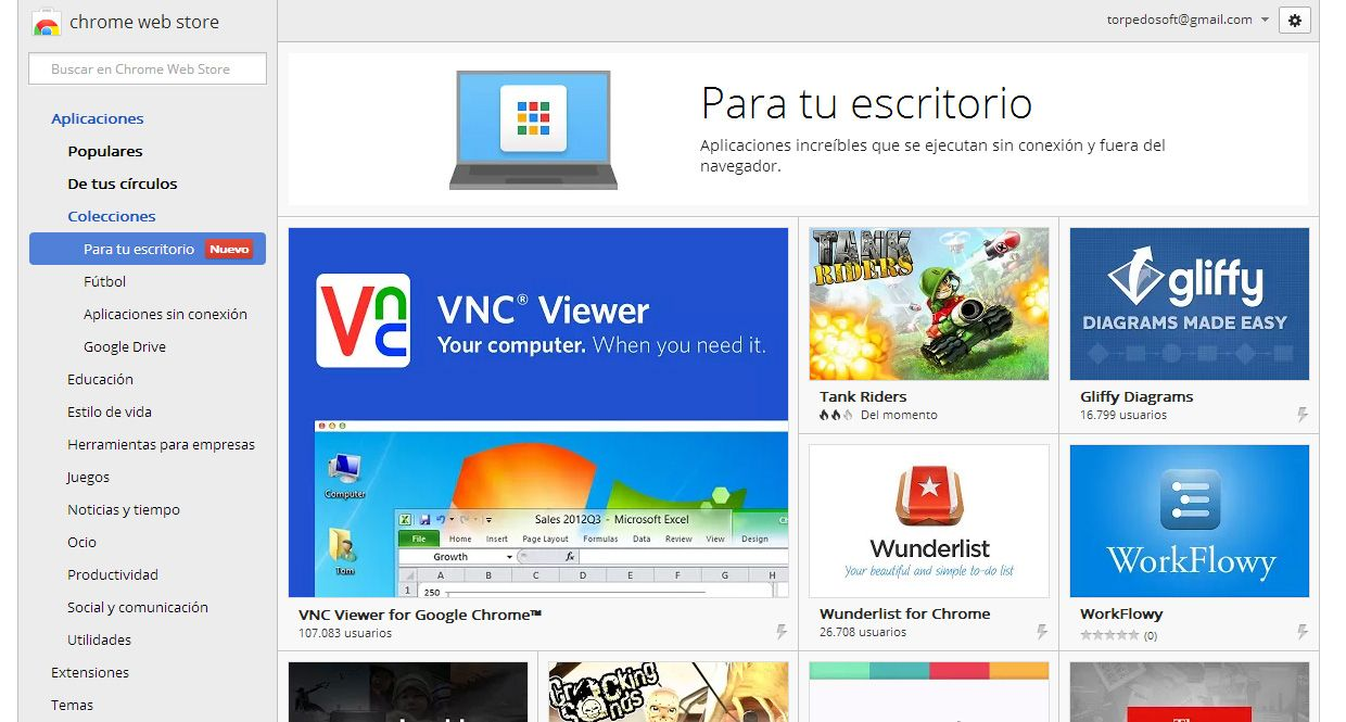 Chrome Apps Screenshot