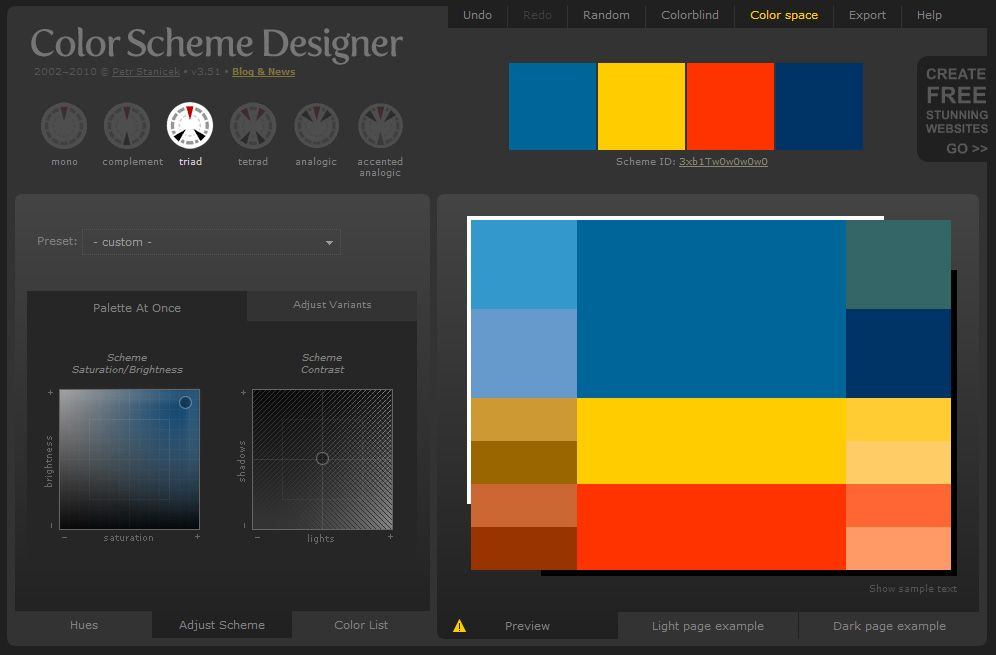 Color Scheme Designer 1