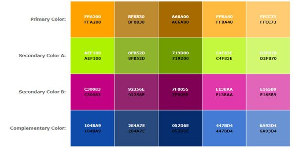 Create Color Schemes For Your Web With Color Scheme