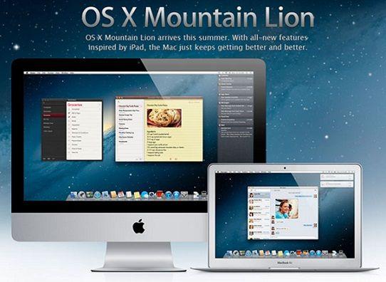 Conoce las características de Mountain Lion, el nuevo sistema operativo de Apple