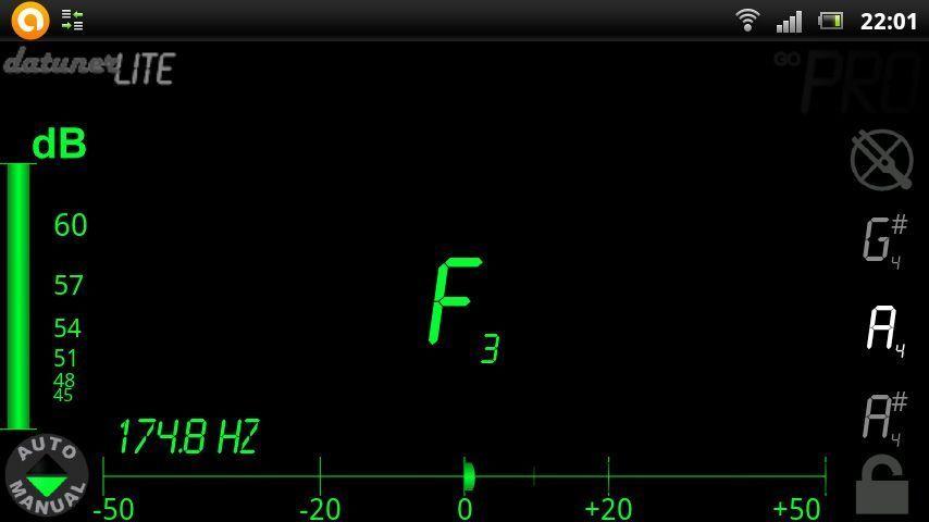 DaTuner Android afinador Cinco aplicaciones de Android indispensables para músicos