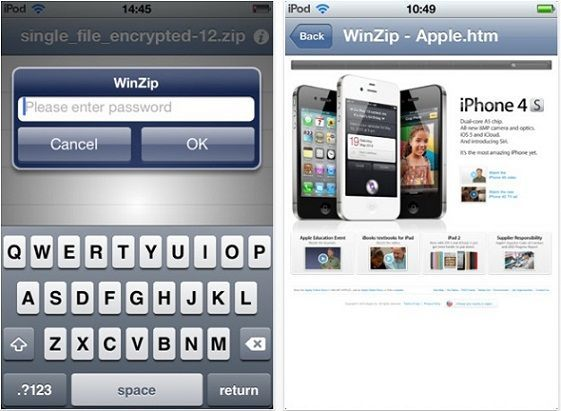 Disponible WinZip para dispositivos con iOS