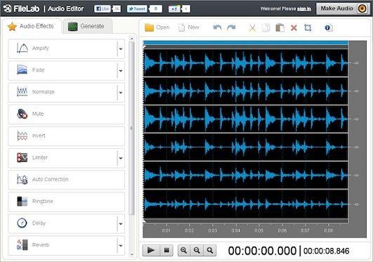 Editar audio con Filelab