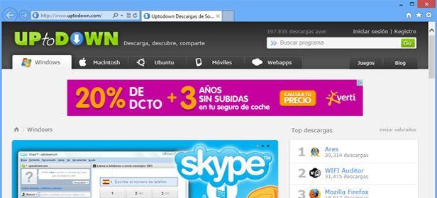 Explorer 10 Captura Uptodown Microsoft libera una versión preview de Internet Explorer 10 en Windows 7