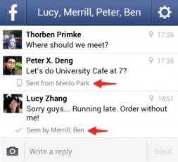 FBmessenger Facebook Messenger añade 'doble check', la confirmación por lectura
