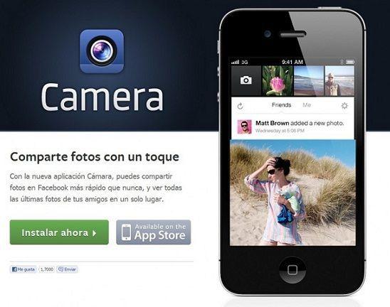 Facebook camera una nueva aplicaci n para iphone similar for Facebook camera