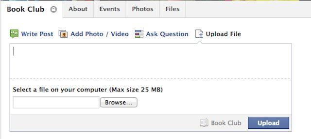 Facebook Groups Facebook permitirá compartir archivos