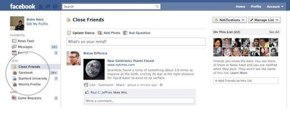 Facebook Friends Lists Facebook hace oficial las nuevas listas inteligentes de amigos