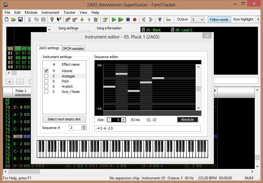 Famitracker crear instrumentos