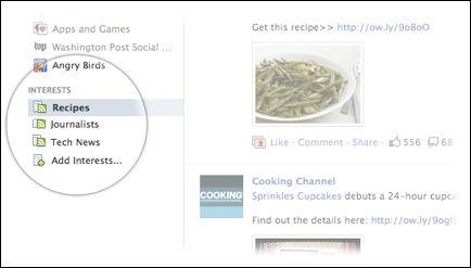"Fb interest2 Facebook introduce las ""listas de interés"""