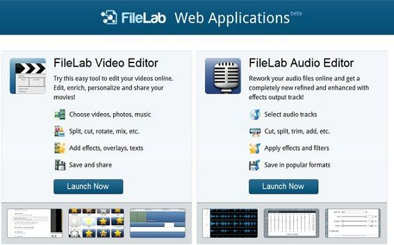 Filelab, una opción para editar audio y video en la nube
