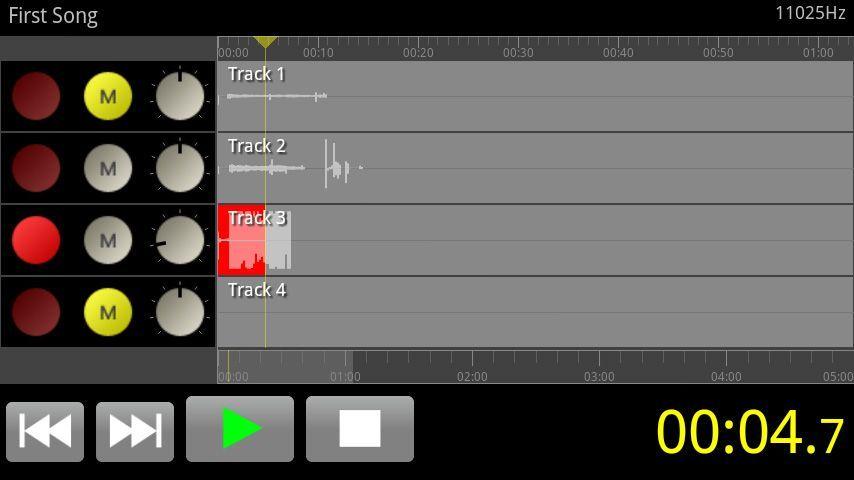 FourTracks Pro Android grabador multipistas Cinco aplicaciones de Android indispensables para músicos