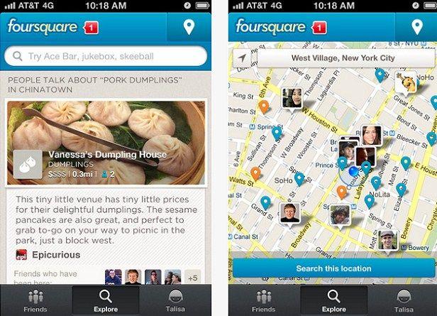 Foursquare, política de privacidad, condiciones de uso,