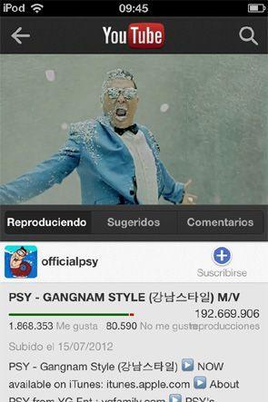 Gangnam Style Youtube iPhone Disponible la aplicación de YouTube para iPhone diseñada por Google