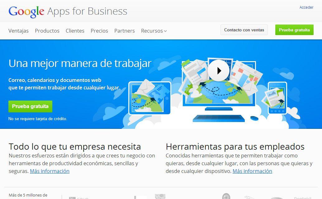 Google Apps for Business1 Google Apps será de pago a partir de ahora