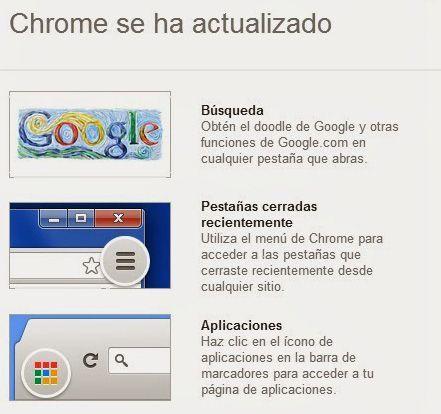 Google Chrome cambios