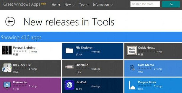 Great Windows Apps, Windows Store, Windows 8