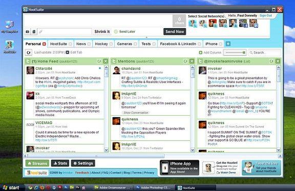 HootSuite te ayuda a gestionar todas tus cuentas en las redes sociales