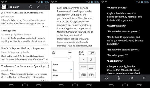 Instapaper1 Instapaper llega a Android