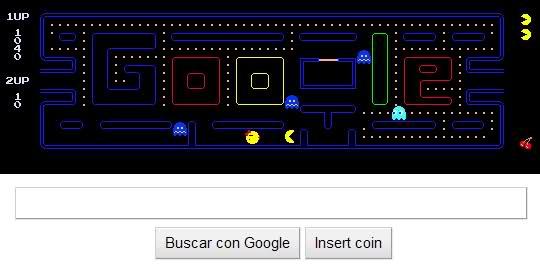 Jugar a Pac-Man desde Google