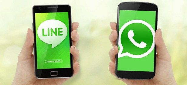 LINE, WhatsApp,