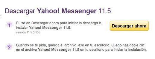 La versión 11.5.0.155 de Yahoo! Messenger ya está disponible para la descarga