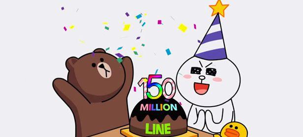 Line 150 millones descargas