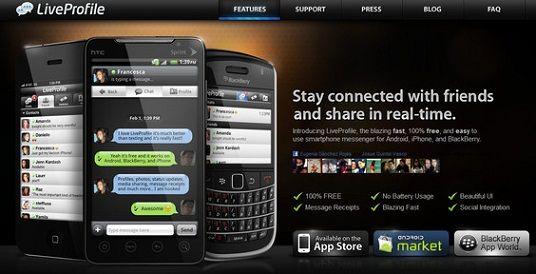 LiveProfile, amenaza con desplazar a WhatsApp en el sector de la mensajería instantánea móvil