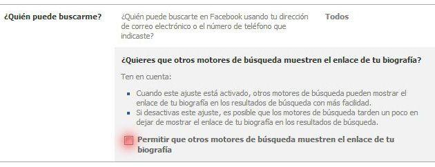 Motors de busqueda Facebook