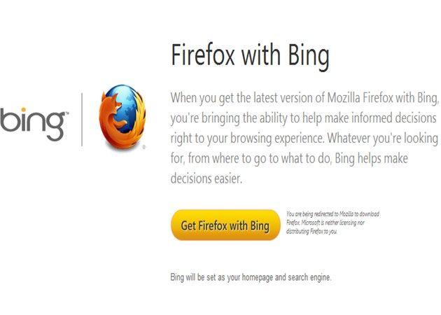 MozillaBing Mozilla lanza una versión de Firefox con el buscador Bing