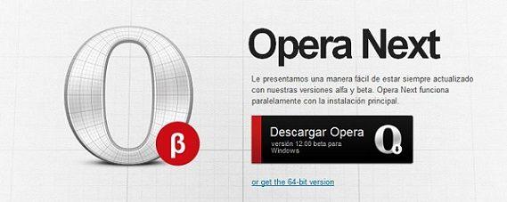 Navegador Opera 12 beta disponible para la descarga