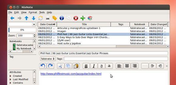 Nixnote Ubuntu NixNote, toma notas de todo desde Ubuntu