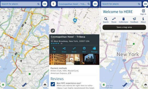 Nokia MAPS Here capturas Nokia lanza sus HERE Maps sumándose a la guerra entre Google y Apple