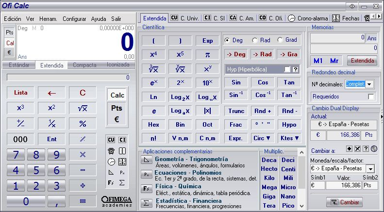 OfiCalc screenshot