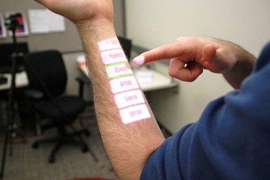 OmniTouch, la pantalla táctil que se puede proyectar en cualquier superficie