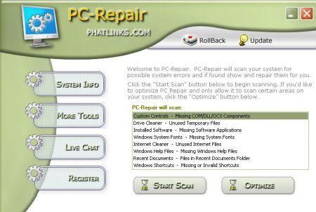 PC Repair System, recomendable pack con los mejores programas para escanear, reparar y optimizar el equipo